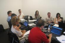 Il corso webmaster di luglio: tutti gli studenti provano da subito a creare il proprio sito web.