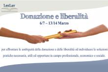 Donazione e liberalità