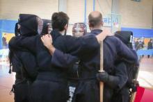 La squadra dell'Okami Kendo Roma ai Campionati Italiani di Kendo 2014