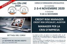 Corso ON-LINE in Crdit Risk Management e Crisi d'Impresa