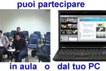 Partecipa in aula dalla aule collegate o dal tuo PC