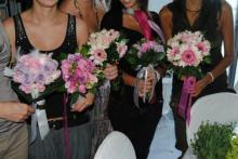 il bouquet realizzato dalle corsiste