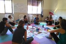 Laboratorio presso la Scuola Artedo di Arti Terapie di Palermo