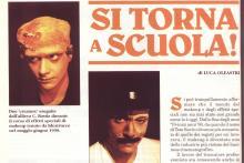 Articolo ' Si torna a scuola' di Luca Oleastri con foto esercitazioni 3D makeup Fangoria 1990