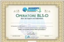 Il Certificato Brevetto di Operatore BLS-D