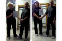 Giugno 2012 - consegna diplomi di attestato d'insegnamento del Wing Chun a cura di Sifu L.Paleari