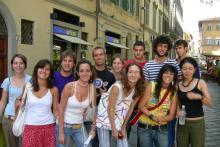 In Piazza Santo Spirito con gli studenti