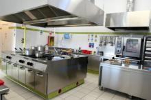laboratorio di cucina per i futuri cuochi