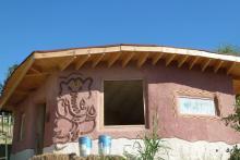 Costruzione realizzata durante il workshop dello scorso anno presso l'Ashram Joytinat a Corinaldo nelle Marche.