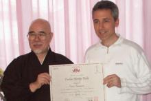 Marzo 2008: con Hyakuten Inamoto fondatore Kpmyo ReikiDo