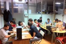 Ragazzi al Lavoro durante il laboratorio