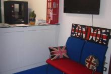 Come and see us. We'll be happy to help you to improve your English in a friendly atmosphere.