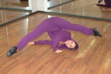 La Prof.ssa Valentina Lo Buono insegnate dei corsi di danza dello Spazio Danza 37