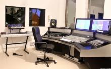 La regia del Roma Sound Design, dove si tengono i corsi di formazione per Tecnico del suono e Fonico