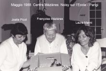 Centre Mezieres Parigi 1988. F. Mezieres e Laura Manni