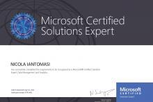 Certificazione Microsoft Certified Expert