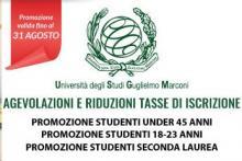 Promo università entro il 31 Agosto 2018
