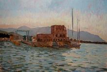 Il porto di Tonnarella, cm 50x70, olio su tavola, 2012