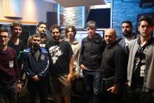 I ragazzi del Sonic Arts di Tor Vergata con il Product Specialist Steinberg Franco Fraccastoro