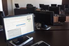 I computer della nostra aula multimediale.