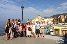 A sunny day in Camogli with oour group from Argentina