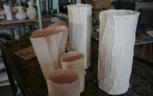 Paperclay, vasi